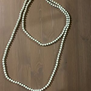 Jewelry - Blue Beaded Necklace Long Like New